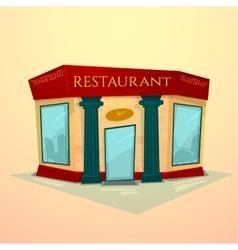 Facade restaurant vector image