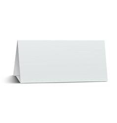 Horizontal elongate oblong blank paper table card vector