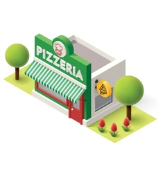 isometric pizzeria vector image vector image