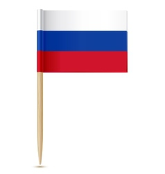 Russian flag toothpick vector image