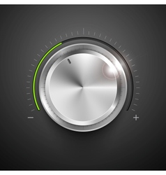 Chrome Knob vector image