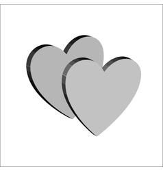Heart couple t shirt 3 vector image