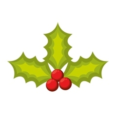 merry christmas leafs decoration vector image vector image
