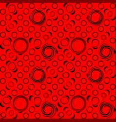 pattern of black convex balls vector image