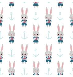 Rabbits and anchors vector image vector image