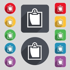 sheet of paper icon sign A set of 12 colored vector image