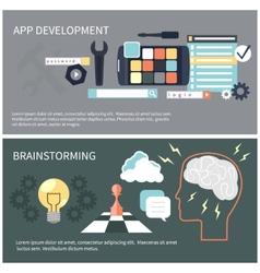 App development and brainstorming vector image