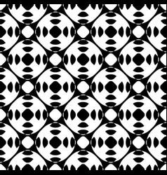 black white seamless pattern geometric texture vector image
