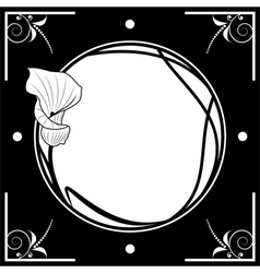frame with lily vector image vector image