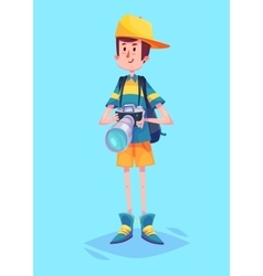 Funny of ptotographer or tourist vector image