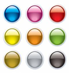 gel buttons vector image vector image