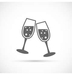 Glasses champagne icon vector image