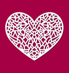 laser cut heart ornament cutout pattern vector image