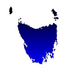 Map of Tasmania vector image vector image