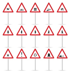 road sign color vector image vector image