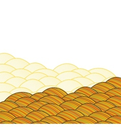 Seamless abstract hand drawn pattern waves vector image vector image