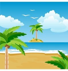 Seeshore and island vector image vector image