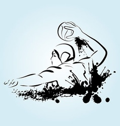 Water polo player vector image