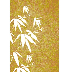 Zen Bamboo vintage painting poster vector image vector image