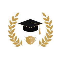 2020 quarantine extreme graduation party graduate vector
