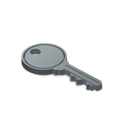 3d door key simple icon in isometric view on white vector image