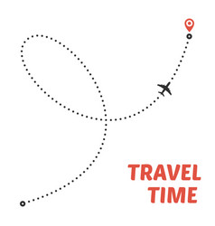 airplane line path vector image