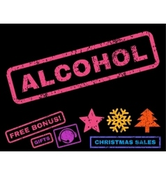 Alcohol Rubber Stamp vector image