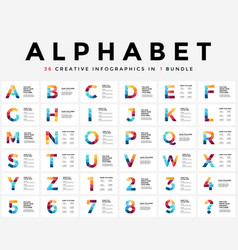 Alphabet infographic presentation slide vector