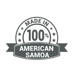 American samoa stamp design vector