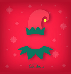 avatar of a christmas elf merry christmas vector image