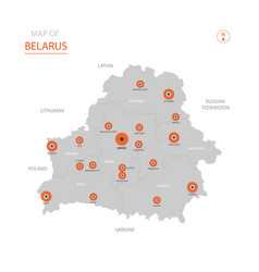 Belarus map with administrative divisions vector