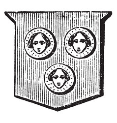 Bezants figured are depicted with a human face vector