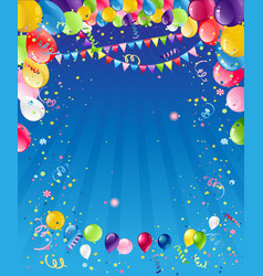 Blue birthday background vector