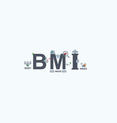 Bmi body mass index banner web icon for vector
