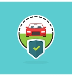 Car insurance logo isolated automobile protected vector