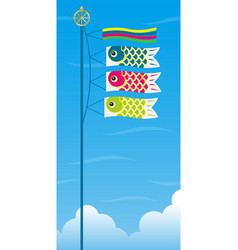 Carp streamers for the japanese boys festival vector