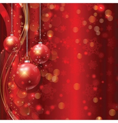 Christmas bauble background vector image