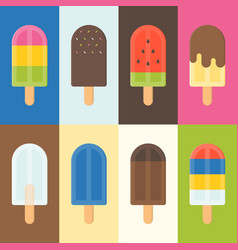 Colorful popsicle icon vector