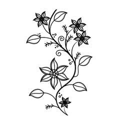 decorative flower isolated icon vector image