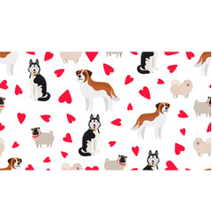 dogs seamless pattern vector image