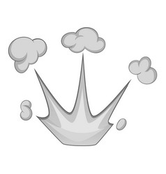 Explode effect with smoke icon monochrome vector