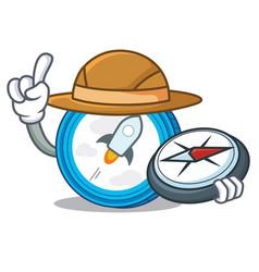 Explorer stellar coin character cartoon vector