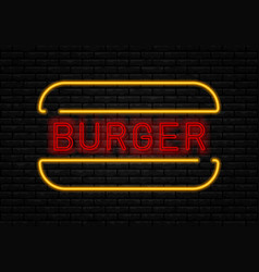 fast food neon vector image