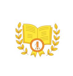 First place certificate achievement best book vector