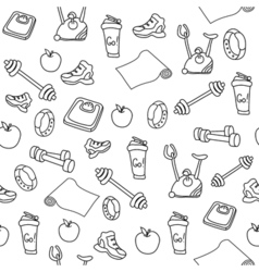 Fitness seamless pattern vector
