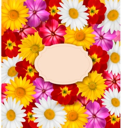 Flower background with a sign vector image