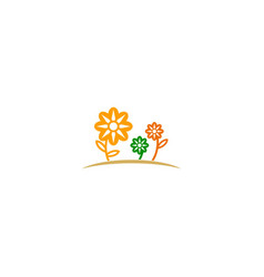 flower nature plant logo vector image
