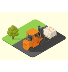 Forklift truck stacker vector