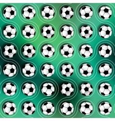 Geometric pattern of soccer balls vector