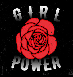 Girl power t shirt print vector